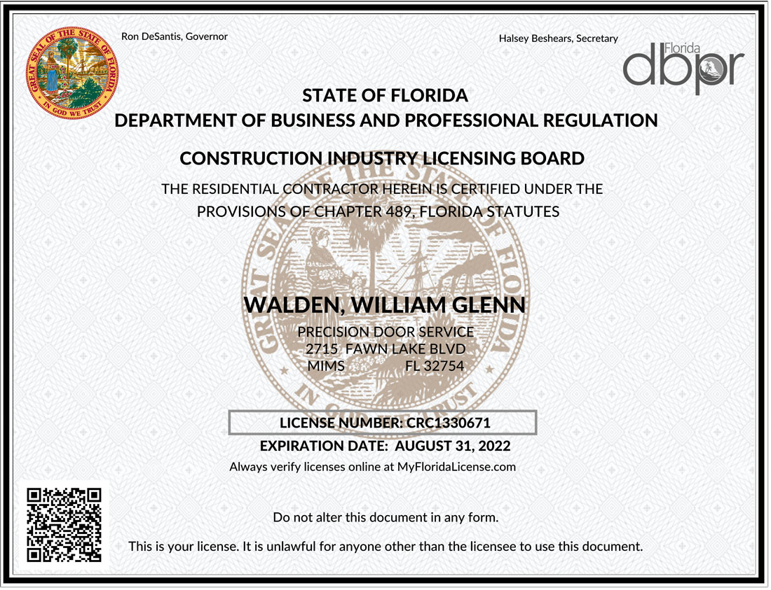 Construction Industry License